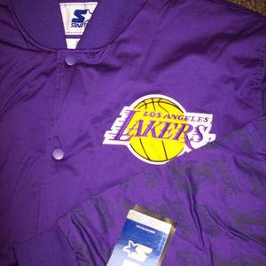 6X LOS ANGELES LAKERS STARTER Logo NBA JACKET